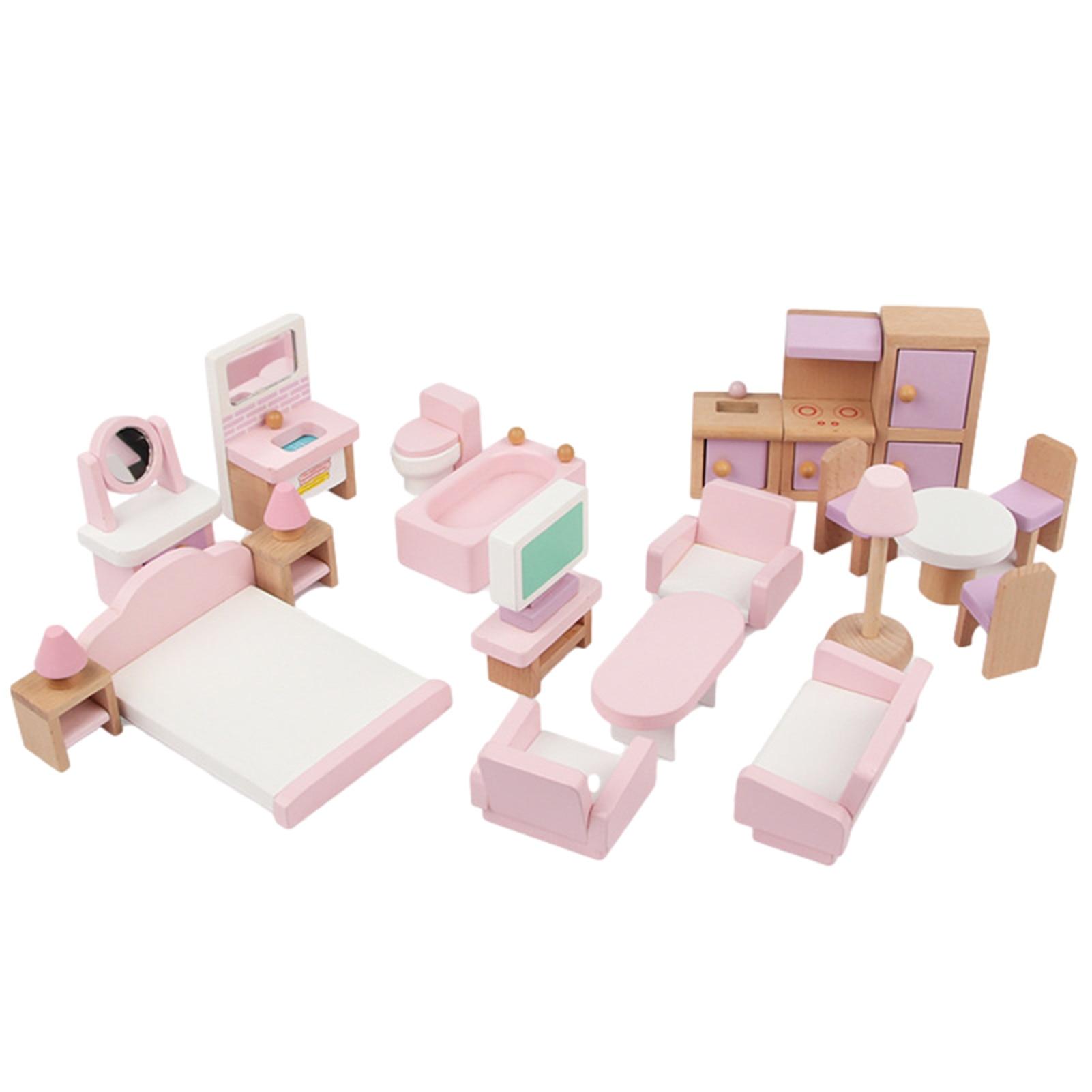 Имитация мебели, набор игрушек, деревянный Высококачественный искусственный игровой домик, кукольный домик для детей, развивающие игрушки