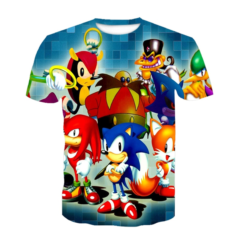 3D Boys Sonic Super Zings Print Girls Funny T-shirts Superzing Children 2021 for summer Clothing Kids Clothes kinder Baby