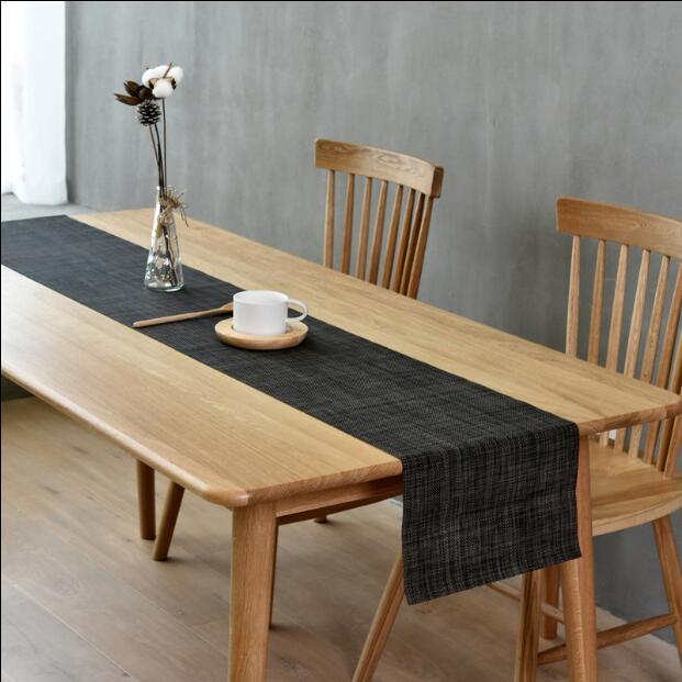 Camino de mesa de PVC Fyjafon, camino de mesa limpio resistente al calor, camino de mesa de comedor, camino lavable antideslizante, Tailorable