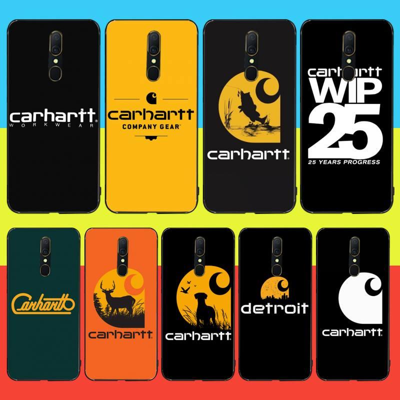 CUTEWANAN marca americana Carhartt negro suave funda del teléfono carcasa Capa para Oppo A5 A9 2020 Reno Z Realme5Pro R11 funda