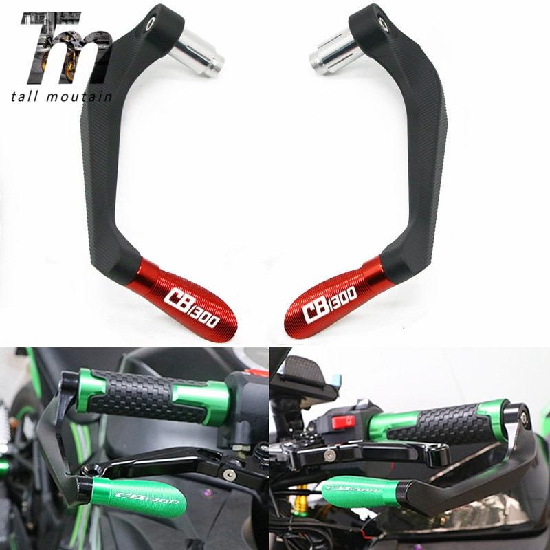 motorcycle 7 8 22mm lever guard handlebar grips guard brake clutch levers protector moto accessories for honda cb400 1992 1998 Motorcycle 7/8 22mm Universal CNC Handlebar Grips Handle Bar Brake Clutch Levers Guard Protector For Honda CB1300 CB 1300