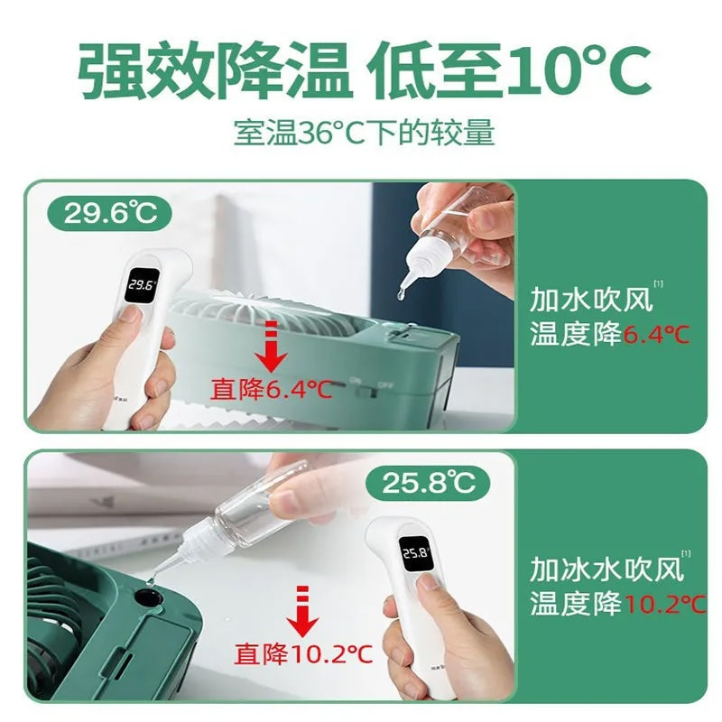 Water Cooling Electric Fan Cooling Air Cooler Home USB Tiny Personalised Fan Portable Camping Eventail Summer Products AG50SZ enlarge