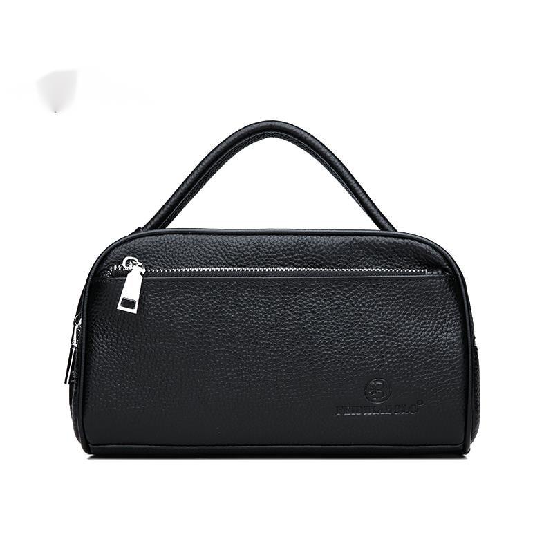 100% Cow Leather Men Wallets Double Zipper Men's Clutch Bag Fashion Cowhide Men Clutches Large Capacity Male Mobile Wallets Bags