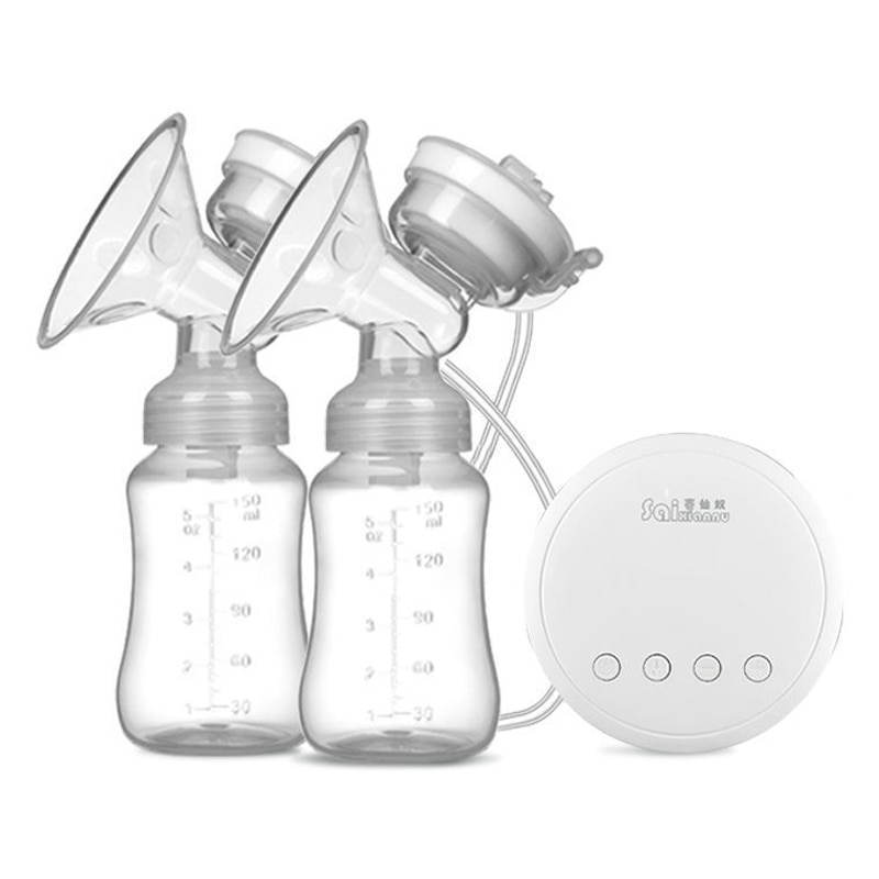 Double Electric Breast Pumps Powerful Nipple Suction USB Electric Breast Pump with baby milk bottle Breast Pumps BPA free