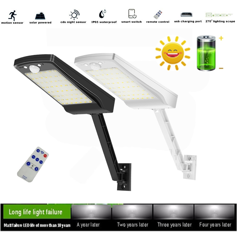 56 LED solar lamps for outside patio 3 Modes remote control Garden Light Security Pool Door Solar Li