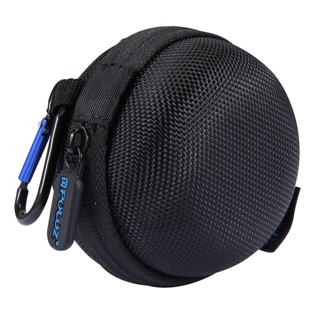 Cargador redondo, bolsa para auriculares, Mini caja de almacenamiento stocker para GoPro HERO5 4 Session, bolsa de almacenamiento, accesorios para cámara fotográfica