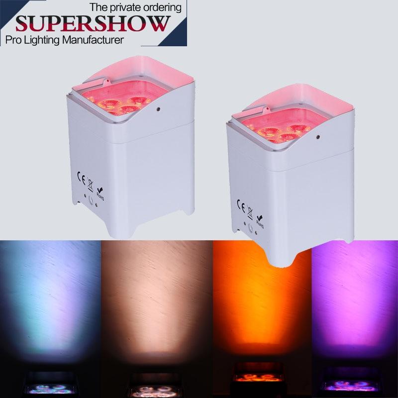 مصباح زفاف LED 6x18W RGBWA UV 6 في 1 ، إضاءة زفاف رومانسية ، ضوء ذكي مع بطارية 2 قطعة
