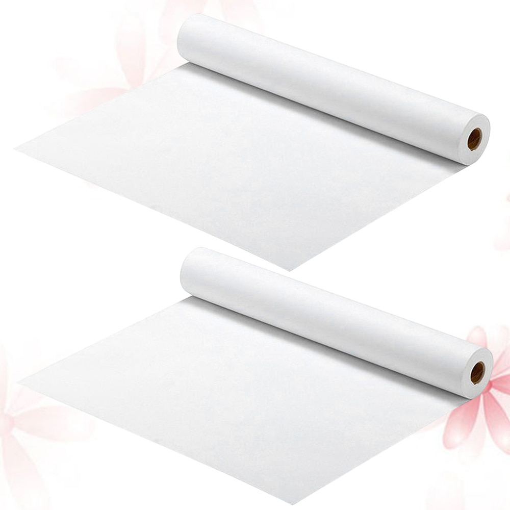 2pcs White Drawing Paper Roll Painting Paper Rolls for Kid Craft Activity and Painting Art Watercolor Paper (45cm x 5m)
