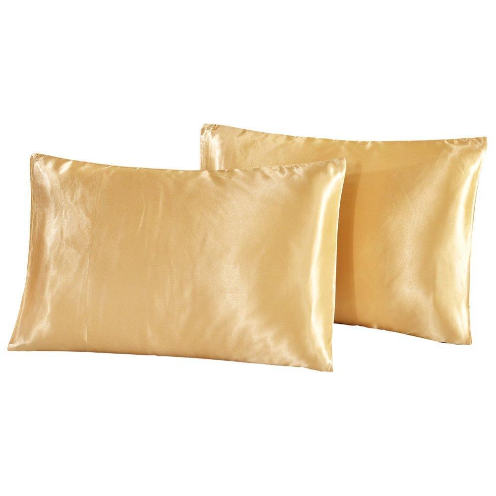 Funda de almohada de seda satinada EE. UU./REINO UNIDO/RU tamaño sólido Color funda de almohada Europea funda de cama tamaño King fundas de almohada