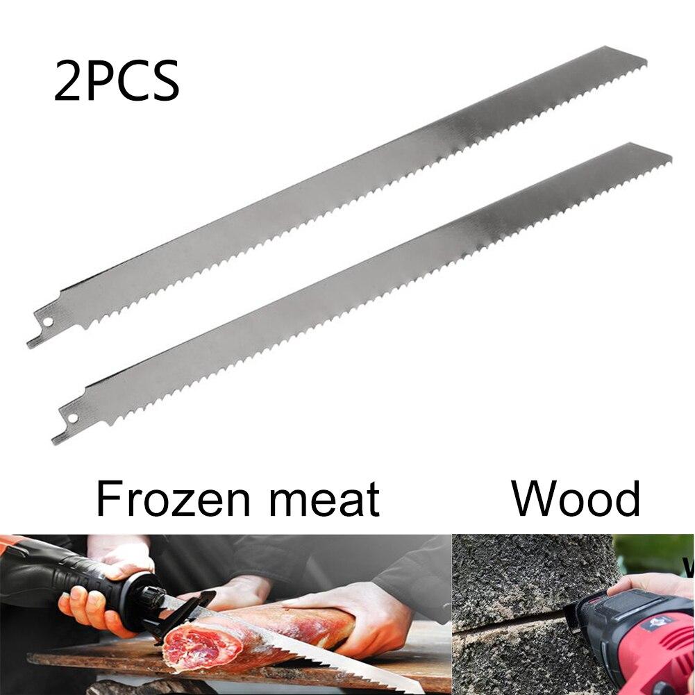 2pcs Household Bone Cutting Machine Sawing Trotters Steak Ribs Frozen Meat Frozen Fish Bone Reciprocating Saw Blade Cutting Tool