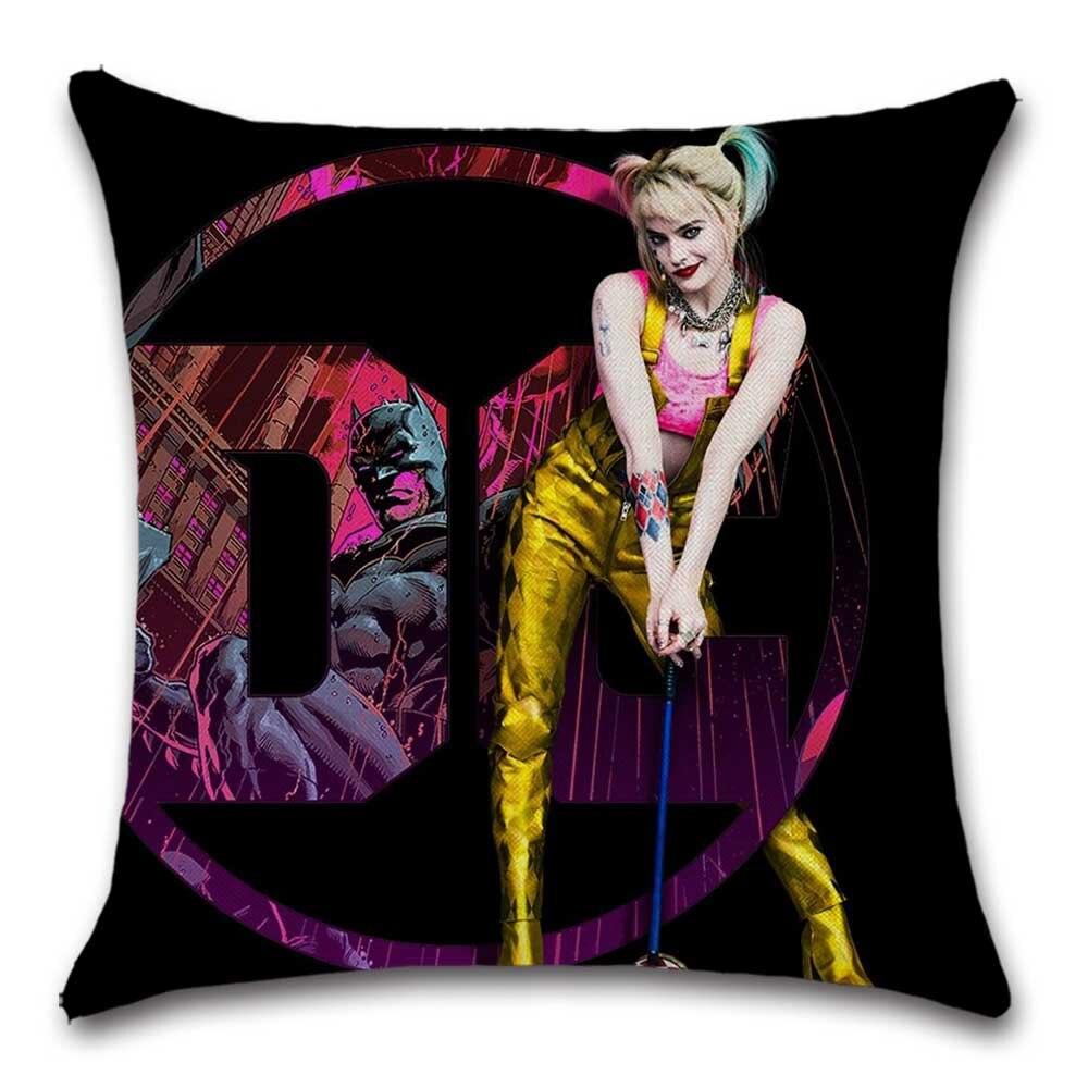 Funda de cojín estampada Joker Girl Harley Quinn, funda decorativa para sofá, silla, asiento de coche, amigo, sala de estar, oficina, regalo para niños, funda de almohada