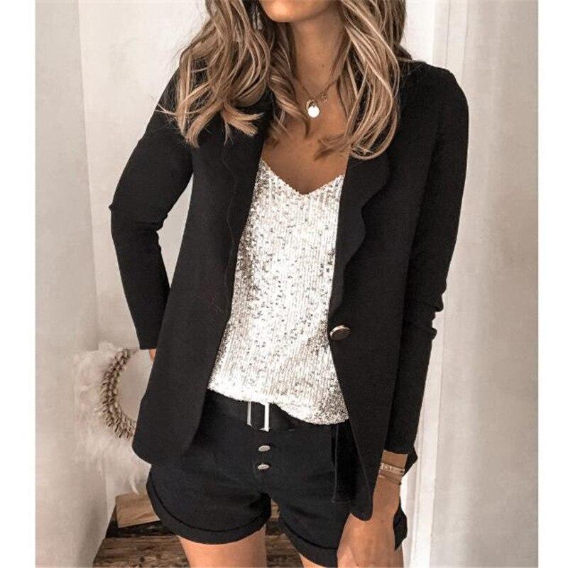 2020 Autumn Office Women Clothing New Fashion Large Size Thin Coat Female Suit Long Sleeve Jacket Loose Casual Wild Women Blazer