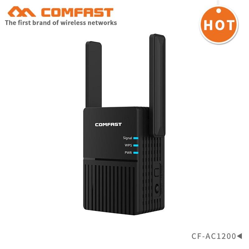 Comfast 5g wifi roteador CF-AC1200 1200 mbps wifi repetidor wi fi extensor de alcance ap roteador 2.4g & 5 ghz wifi impulsionador antena dupla