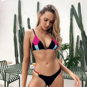 Sexy Patchwork Summer Women Swimwear 2 Pieces Bikini Mujer 2021 Triangle Brazilian Swimsuit Female Bandage Swim Bather Suit New