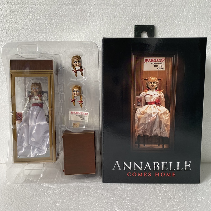 NECA-figuras de acción de Annabelle, juguete Original de 18cm y 7 pulgadas, figura de acción para volver a casa