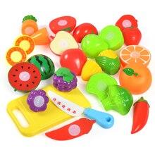 ALC nouveau 1 ensemble sûr enfants jouer maison jouet en plastique alimentaire jouet coupé fruits légumes cuisine bébé enfants semblant jouer jouets éducatifs