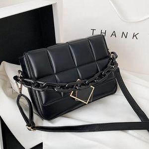 2021 Women's Bag Spring Autumn New Female Literary Single-Shoulder Bag Chain Design Cross-Body Bag Trend Women's Bag Bolsos Sac