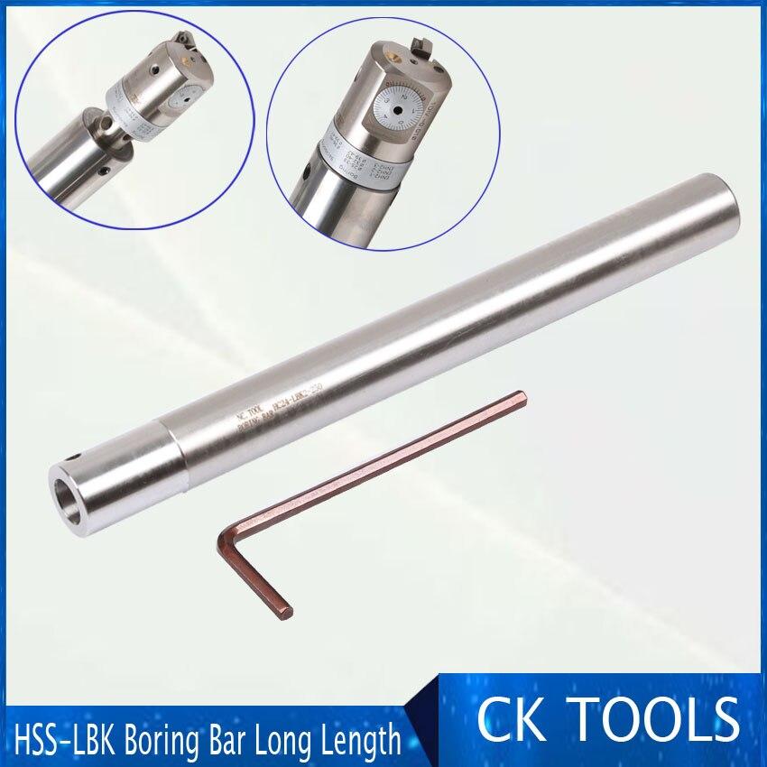 HC24 C32 LBK1 LBK2 lbk3 LBK 300mm herramienta de perforación HSS Barra de baring CBH perforación fina barra de extensión sísmica fina material súper duro