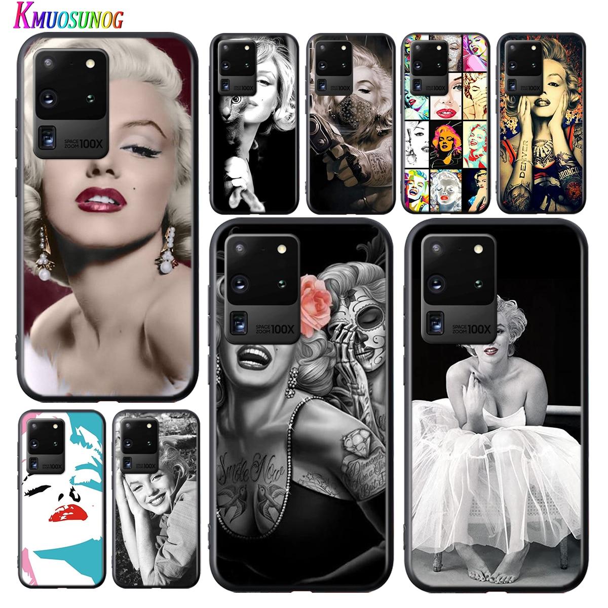 Hermosa Marilyn Monroe para Samsung Galaxy S20Ultra S20 Plus Nota 10 Lite A01 A11 A21 A21S A31 A41 A51 A71 A91 2020 caja del teléfono