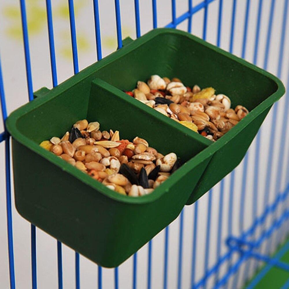 Creative Double Groove Bird Feeder Food Tray Parrot Waterer Hanging Animal Water Bowl Bird Supplies