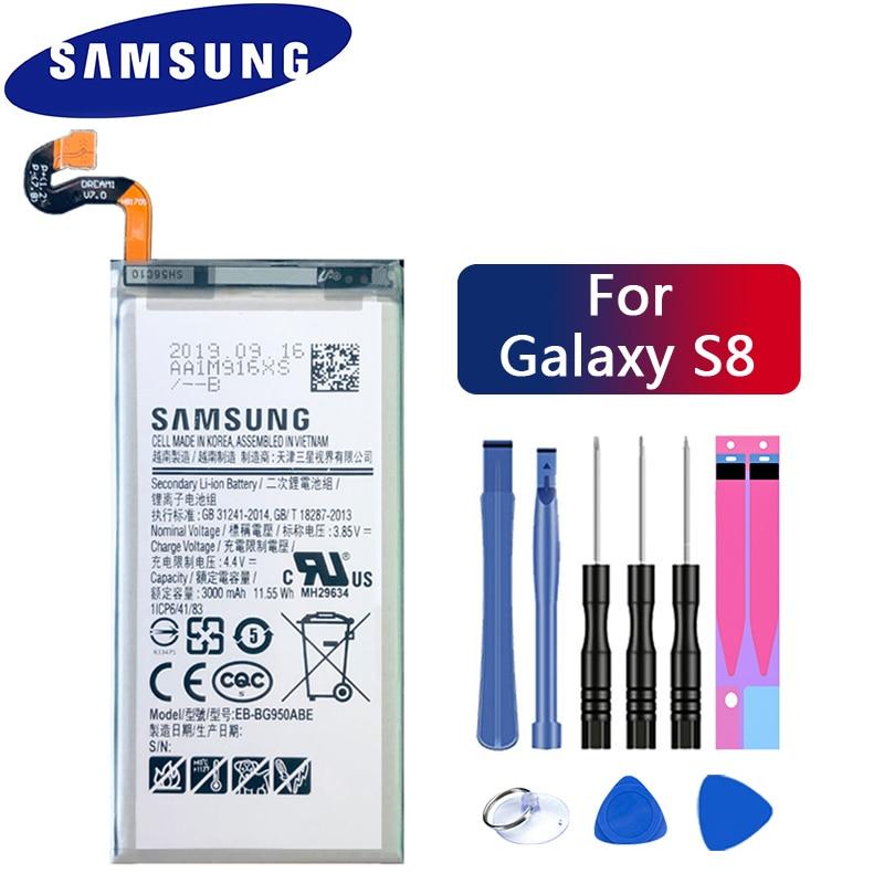 Оригинальная батарея Samsung для Galaxy S8 SM-G9508 G950F G950A G950T G950U G950V G950S 3000 мАч EB-BG950ABE Аккумуляторы для мобильных телефонов