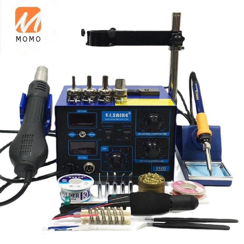 for 952D 2 in 1 for SMD Rework Soldering Station Hot Air Gun Solder Iron Desoldering 220V 110V enlarge