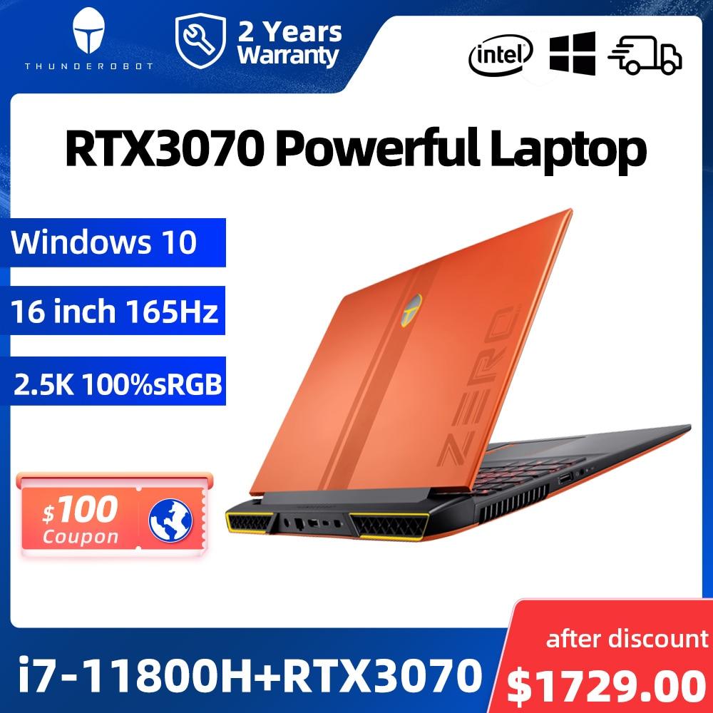 "Review ZERO RTX3070 i7-11800H Gaming Laptop 165Hz 16"" inch 2.5K 16:10 WiFi6 Windows 10 pro Notebook Computer Laptops 2 Years Warranty"