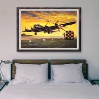 Peinture classique retro 26 operations de vol davion de guerre T065  affiche en soie personnalisee  decoration murale  cadeau de noel
