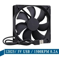 1pieces gdstime 12025 dc 5v usb 1500rpm 0 2a 120mmx25mm 120mm brushless axial cooler fan 12cm pc cpu computer case cooling fan