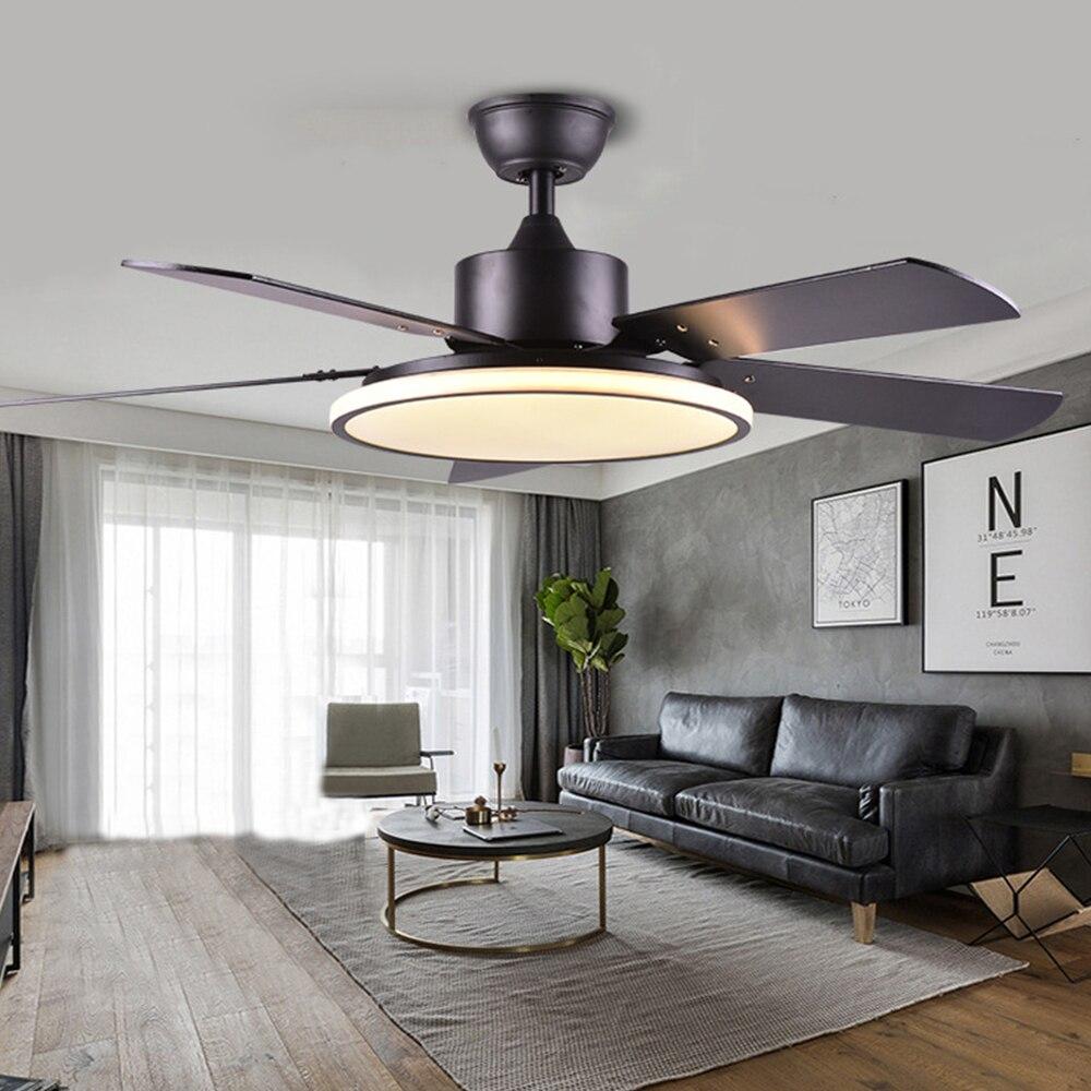 Nordique moderne ventilateur de plafond avec lumière 220V télécommande ventilateurs lampe pour chambre lampes maison chambre salon Restaurant