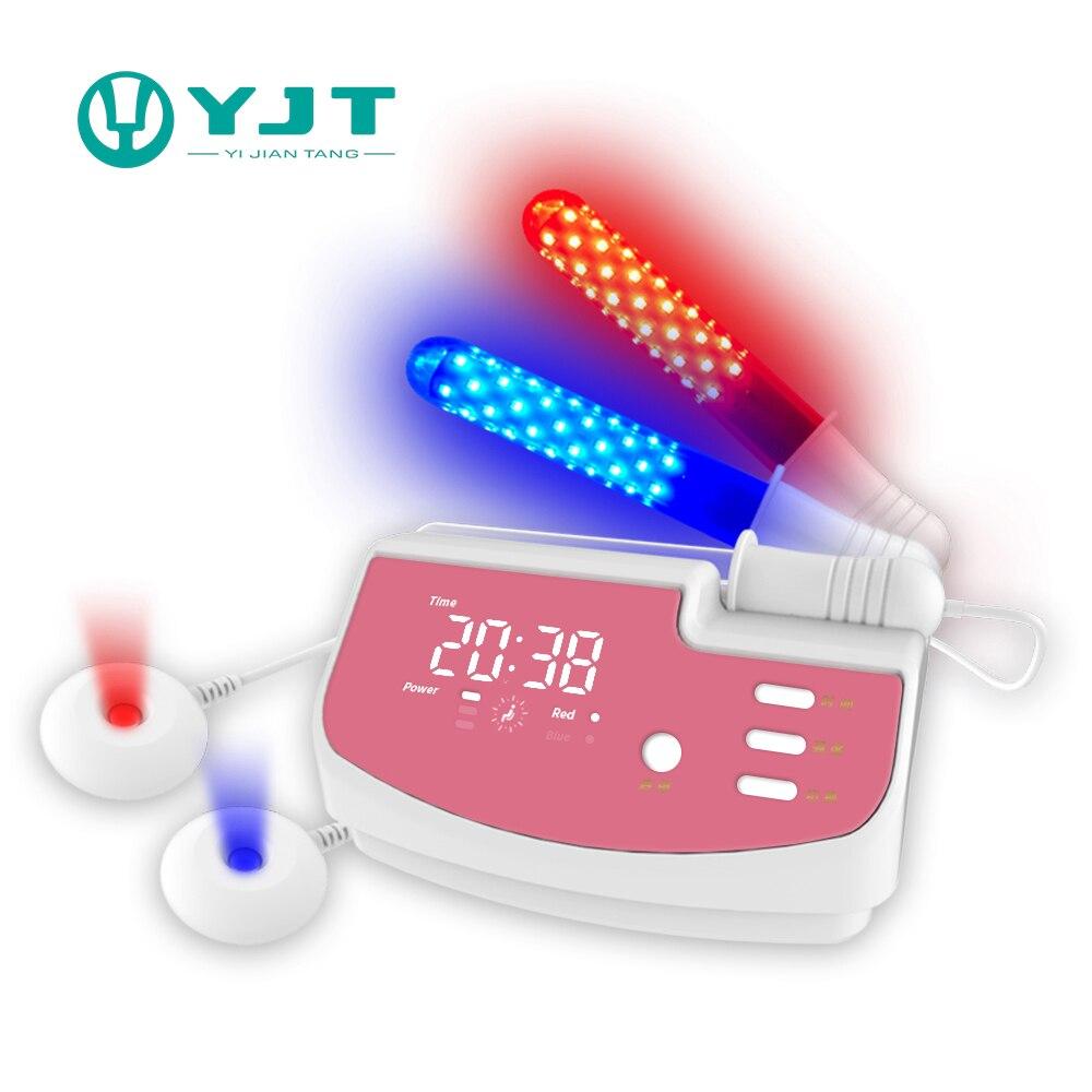 جهاز تدليك مهبلي معتدل غير محدد من Salud منتجات صحية أنثوية ضوء أحمر أزرق للنساء تآكل عنق الرحم بالليزر