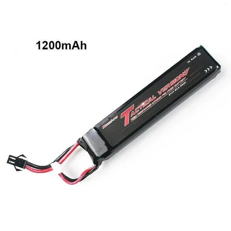 Airsoft électrique GunBos 11.1V/7.4V 1200mAh Lipo RC jouet voiture li-po batterie Gelall Blaster J9 J11 CYMA G & G AR15 AEG SM Type batterie