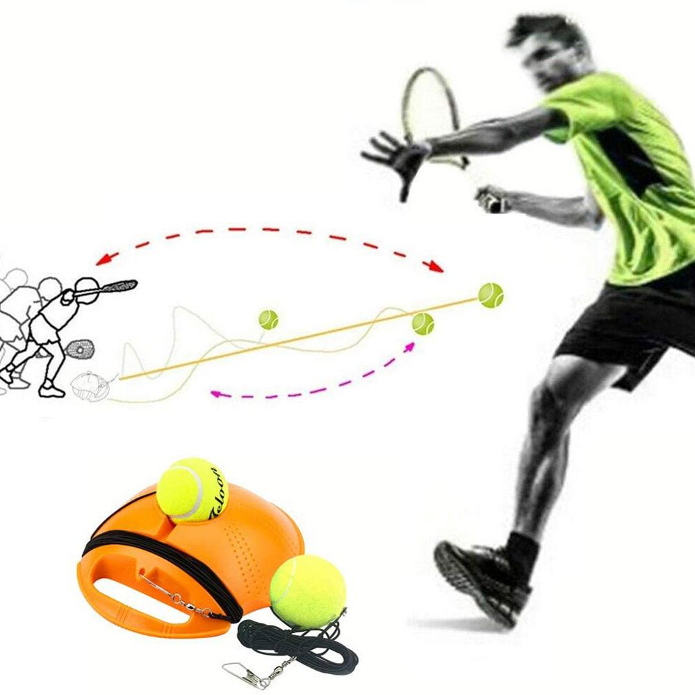Entrenador de tenis de alta resistencia, pelota de tenis de ejercicio, deporte, pelota de rebote de auto-Estudio, entrenamiento de tenis con dispositivo de Sparring de placa base