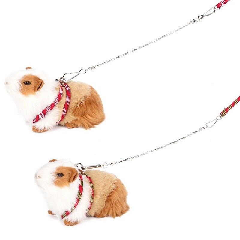 Arnés para mascotas, correa ajustable suave para pájaros, loro, ratón, hámster, hurones, rata, cerdo, correa, arnés, suministros para Animal PEQUEÑO
