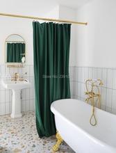 럭셔리 골드 커튼 막대 세트 조절 욕실 샤워 막대 (더블 레이어 벨벳 커튼은 포함되지 않습니다) 파티션 커튼 샤워