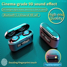 TWS Wireless Bluetooth Earphone Headset 3500mAh Charging Box Wireless Headphone 9D Stereo Waterproof
