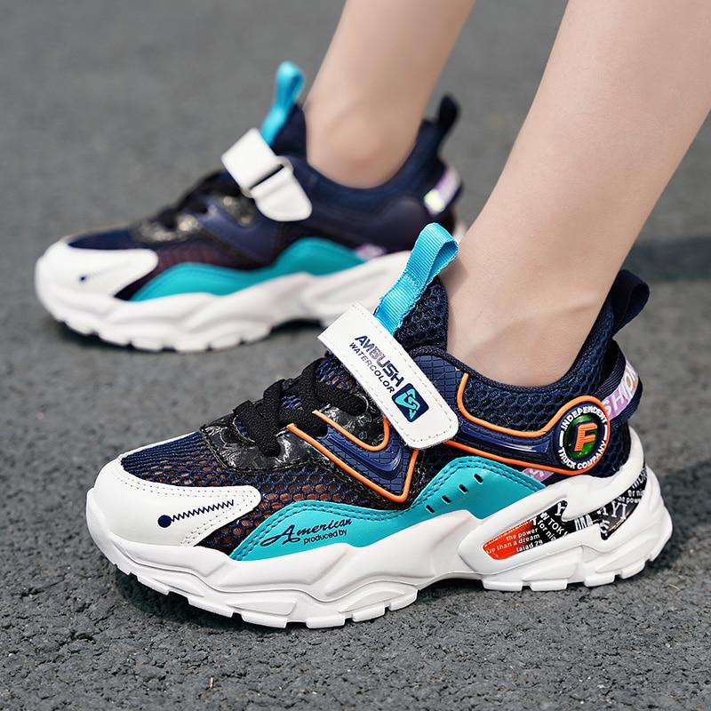 Детская обувь, Повседневные детские кроссовки, сетчатые спортивные модные весенние кроссовки для мальчиков, брендовые Детские кроссовки д...