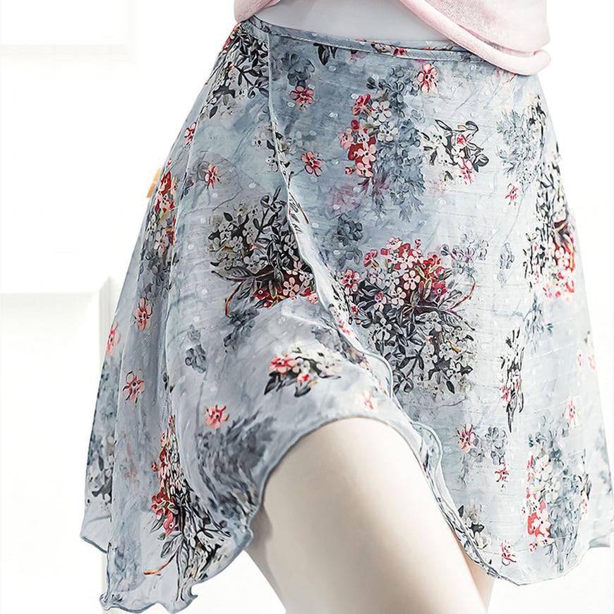 Ballet Skirt Women Wrap Chiffon Long Dance Tutu Ballerina Classic Costume Flora Clothes Dancewear