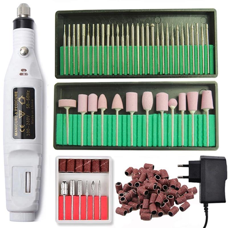 Professional Electric Nail Drill Machine Pedicure Manicure Drill Set Milling Cutters Set Nail File 20000RPM Polishing Equipment