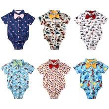 Toddler Infant Baby Boy 3M-24M Gentleman Clothes Short Sleeve Romper Jumpsuit Outfit