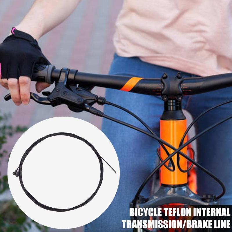 2 uds teflón bicicleta núcleo de alambre delantero trasero freno desviador interior cambio Cable MTB bicicleta de velocidad Variable de alambre de Cable de transmisión