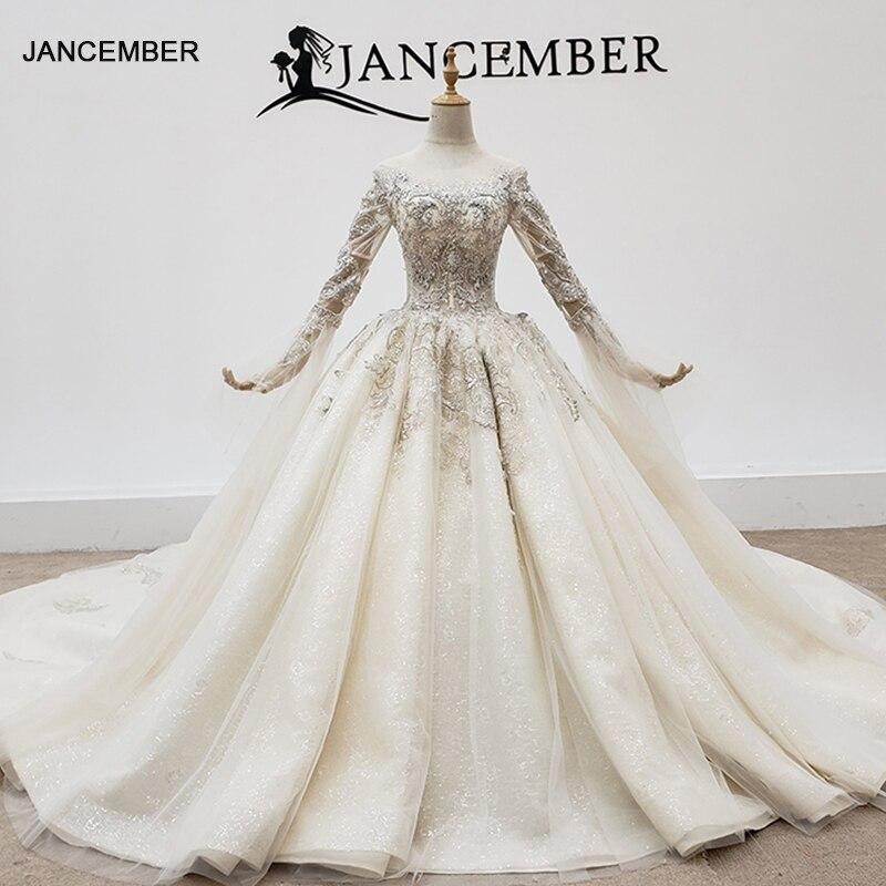 HTL1402 De lujo boda Vestido De cuentas De plata 2020 perlas lentejuela...