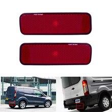 ANGRONG 2x réflecteur pare-choc arrière   Lentille rouge gauche et droite, lumière pour Ford Transit Van personnalisé connexion