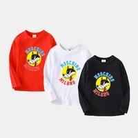 autumn new kids boys long sleeve t shirts cotton cartoon tops youngster tee shirt 3 12year boys sweatshirt