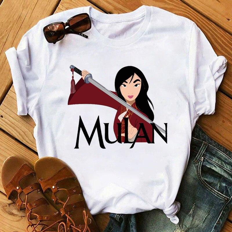 Mulan, Женская забавная футболка с мультяшными персонажами, новые летние шорты для активного отдыха с короткими рукавами, kawaii feminist, футболка s ...