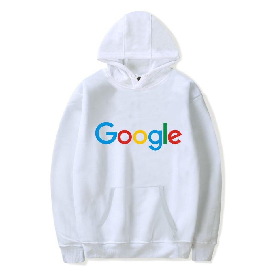 Gran oferta de sudaderas con capucha de Google Harajuku, ropa de invierno de Google, Sudadera con cuello redondo de algodón con logotipo de Google para hombre/mujer