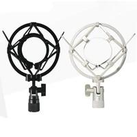 studio condenser microphone stand metal shock mount holder for 40 47mm diameter radio broadcasting studio recording demo tracks
