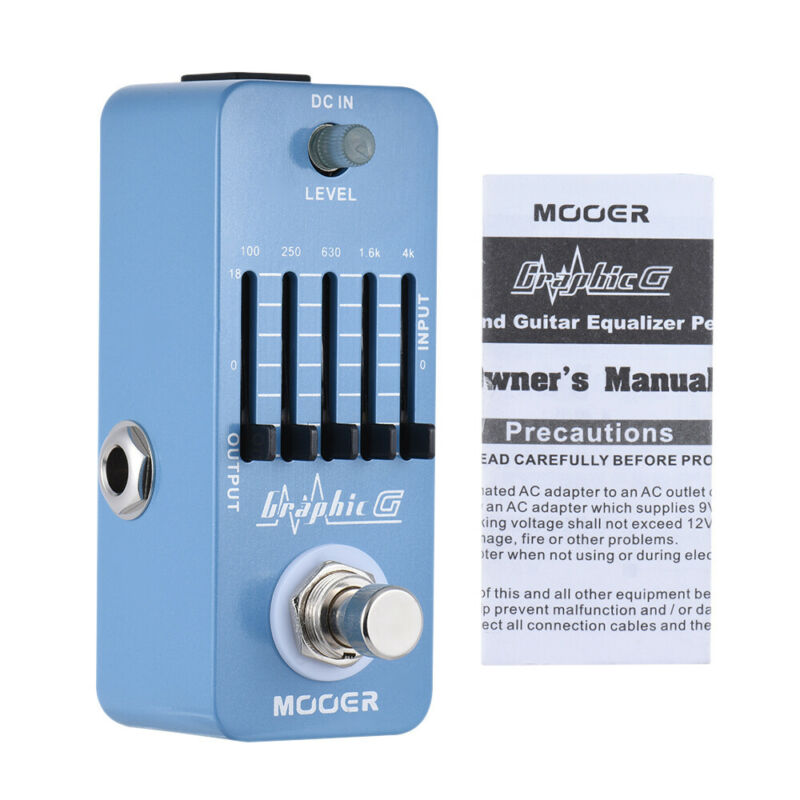 Mooer Graphic G 5-Band Graphic EQ Guitar Equalizer Effect Pedal True Bypass MEQ1 for Electric Guitar Effect Pedal Reverb Guitar enlarge