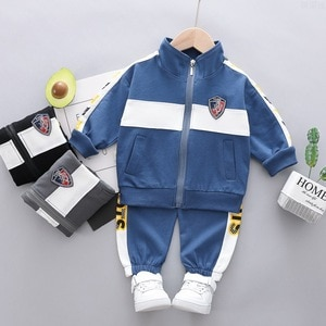 Boys Clothes Sets Spring Autumn Children Casual Cotton Jacket Pants 2pcs Tracksuits For Baby Boy Toddler Coats Trousers Suits 4Y