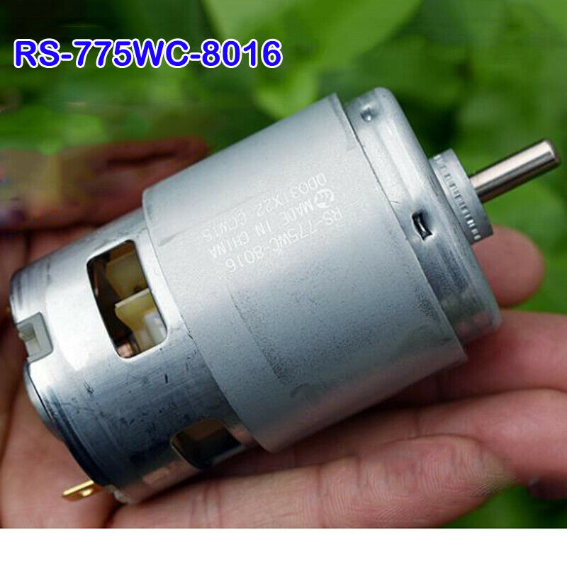 Motor de RS-775WC Mini MABUCHI cc 12V-18V 20000RPM de alta velocidad, alto par, destornillador DIY, modelo de herramientas eléctricas de jardín